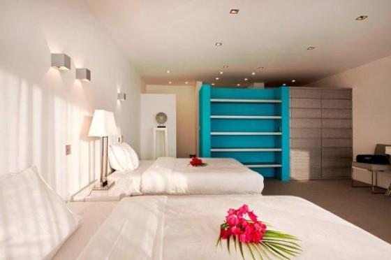 Moderna residencia con vista al mar Dormitorio