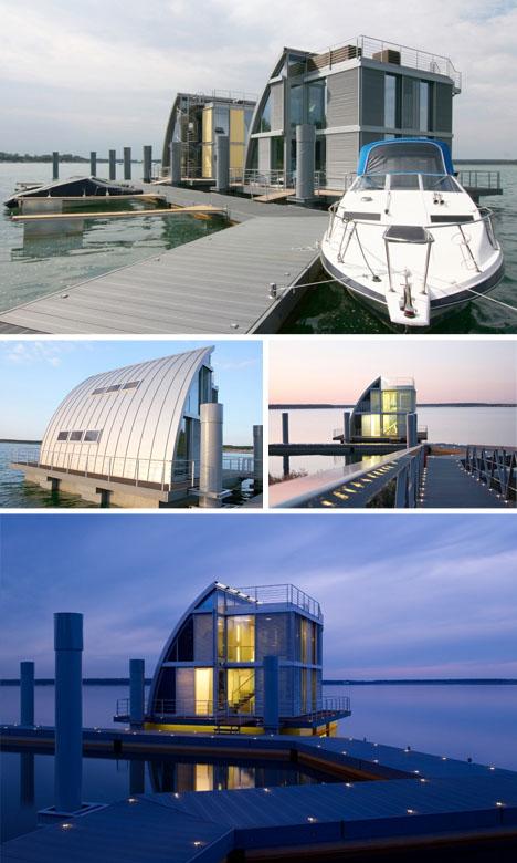 Casa cubo flotante exteriores 2