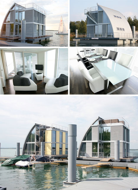 Casa cubo flotante interiores 3