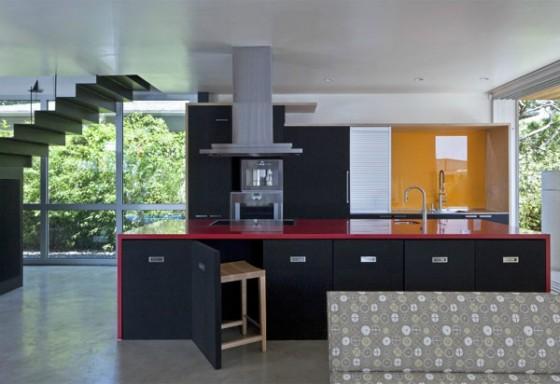 Interiores cocina vivienda moderna sostenible en los Angeles