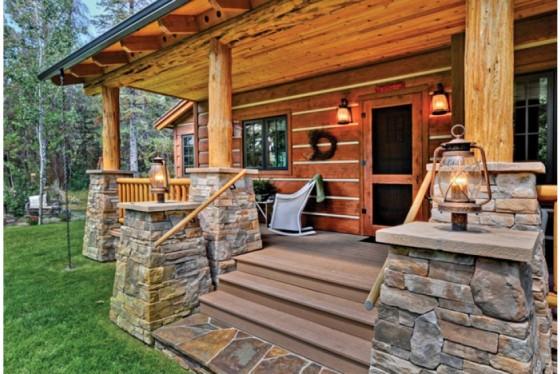 cabaña de campo de dos plantas construidas en madera (3)