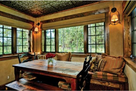 cabaña de campo de dos plantas construidas en madera (4)