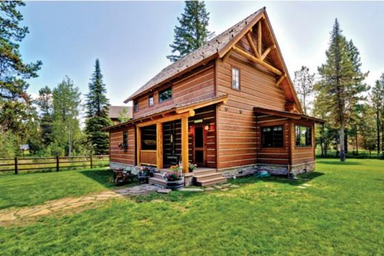 cabaña de campo de dos plantas construidas en madera (9)